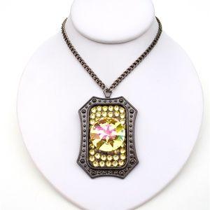 GASOLINE GLAMOUR Jewelry - LIMELIGHT RHINESTONE LEMON ROUND NECKLACE SAMPLE